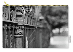 Carry-all Pouch featuring the photograph St. Charles Ave Wrought Iron Fence by KG Thienemann