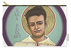 Carry-all Pouch featuring the painting St Elizabeth Of The Trinity- 295 by William Hart McNichols