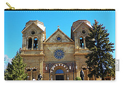 St. Francis Cathedral Santa Fe Nm Carry-all Pouch by Joseph Frank Baraba