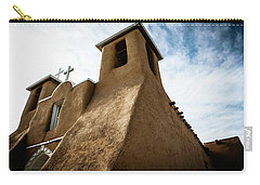Carry-all Pouch featuring the photograph St. Francis Church Taos by Marilyn Hunt