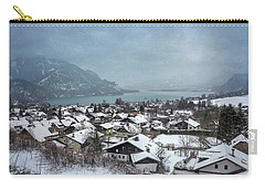 St Gilgen Village Wolfgangsee Austria In Winter  Carry-all Pouch