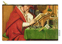 St. Jerome In His Study  Carry-all Pouch by Jan van Eyck
