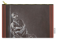 Carry-all Pouch featuring the painting  St John Of The Cross In The Dark Night Of The Soul 290 by William Hart McNichols