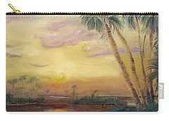 Carry-all Pouch featuring the painting St. Johns Sunset by Dawn Harrell