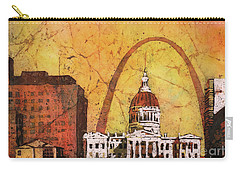 St. Louis Archway Carry-all Pouch by Ryan Fox