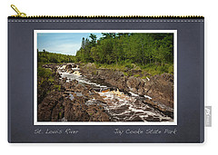 St Louis River Poster 2 Carry-all Pouch by Heidi Hermes