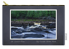 Carry-all Pouch featuring the photograph St Louis River Scrapbook Page 1 by Heidi Hermes