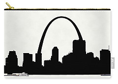 St Louis Silhouette With Boats 2 Carry-all Pouch