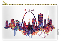 Carry-all Pouch featuring the digital art St Louis Skyline by Marian Voicu