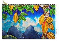 St. Lucia Cocoa Carry-all Pouch