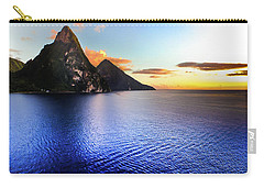 St. Lucia's Cobalt Blues Carry-all Pouch by Karen Wiles
