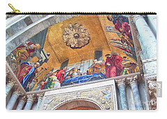 Carry-all Pouch featuring the photograph St. Marks Basilica Venice Italy by John Noyes and Janette Boyd