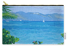 St Martin From Anguilla Carry-all Pouch by Margaret Brooks