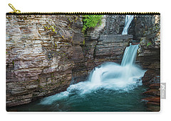 Carry-all Pouch featuring the photograph St. Mary Falls by Gary Lengyel