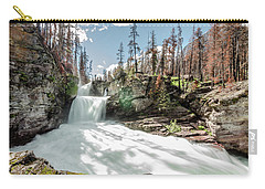 Carry-all Pouch featuring the photograph St. Mary Falls by Margaret Pitcher
