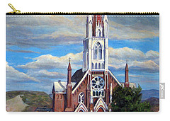 Carry-all Pouch featuring the painting St. Mary Of The Mountains by Donna Tucker