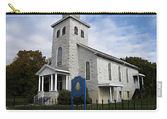 Carry-all Pouch featuring the photograph St Nicholas Church Saint Clair Pennsylvania by David Dehner