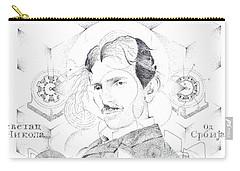 St. Nikola Tesla Of Serbia Sombra De Arreguin Carry-all Pouch