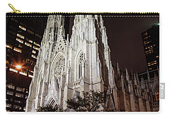 St Patrick Cathedral At Night Carry-all Pouch