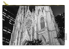 St Patrick Cathedral Black And White  Carry-all Pouch