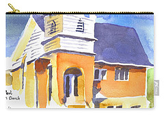 Carry-all Pouch featuring the painting St. Paul Lutheran 3 Impressions by Kip DeVore