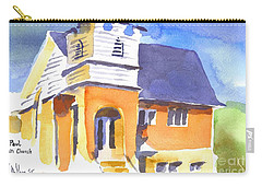 Carry-all Pouch featuring the painting St Paul Lutheran 3 by Kip DeVore