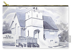 Carry-all Pouch featuring the painting St. Paul Lutheran Church 2 by Kip DeVore