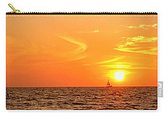 St. Pete Beach Sunset Carry-all Pouch by Sandy Taylor