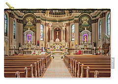 Carry-all Pouch featuring the photograph St Peter The Apostle Church Pa by Susan Candelario