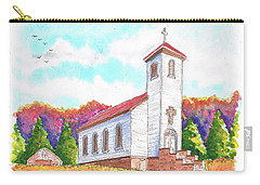 St. Peter's Catholic Church, Fayette, Mi Carry-all Pouch by Carlos G Groppa