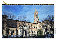 Carry-all Pouch featuring the photograph St Sernin Basilica by Cendrine Marrouat