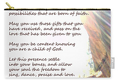 St Therese Of Lisieux Prayer And True Light Lower Emerald Pools Zion Carry-all Pouch
