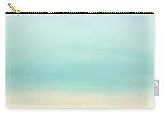 St Thomas #1 Seascape Landscape Original Fine Art Acrylic On Canvas Carry-all Pouch