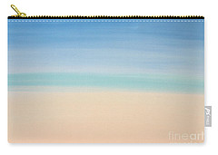 St Thomas #2 Seascape Landscape Original Fine Art Acrylic On Canvas Carry-all Pouch