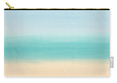 St Thomas #3 Seascape Landscape Original Fine Art Acrylic On Canvas Carry-all Pouch