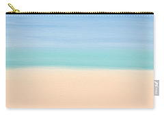 St Thomas #4 Seascape Landscape Original Fine Art Acrylic On Canvas Carry-all Pouch