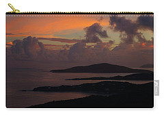 St Thomas Sunset At The U.s. Virgin Islands Carry-all Pouch by Jetson Nguyen