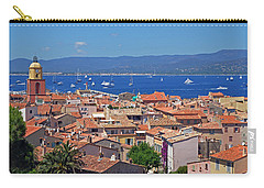 St-tropez Skyline Carry-all Pouch by Corinne Rhode