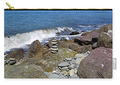 Carry-all Pouch featuring the photograph Stacked Against The Waves by Tikvah's Hope