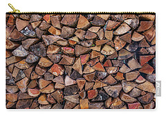Stacked Firewood Carry-all Pouch by Jim Moore