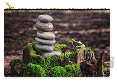 Carry-all Pouch featuring the photograph Stacked Stones And Fairy Tales IIi by Marco Oliveira