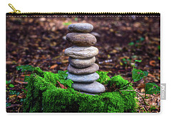 Carry-all Pouch featuring the photograph Stacked Stones And Fairy Tales Iv by Marco Oliveira