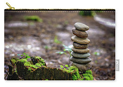 Carry-all Pouch featuring the photograph Stacked Stones And Fairy Tales by Marco Oliveira