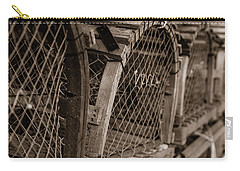 Carry-all Pouch featuring the photograph Stacks Of Pei Loberster Traps by Chris Bordeleau