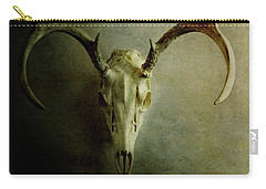 Carry-all Pouch featuring the photograph Stag Skull by Stephanie Frey