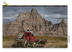 Stage Coach In The Badlands Carry-all Pouch