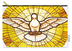 Stain Glass Dove Carry-all Pouch by Joseph Frank Baraba