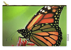 Stained Glass Butterfly Carry-all Pouch