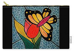 Stained Glass Duo Carry-all Pouch by Jim Harris