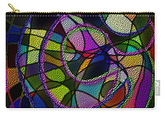 Carry-all Pouch featuring the digital art Stained Glass Father Mother Child by Iowan Stone-Flowers